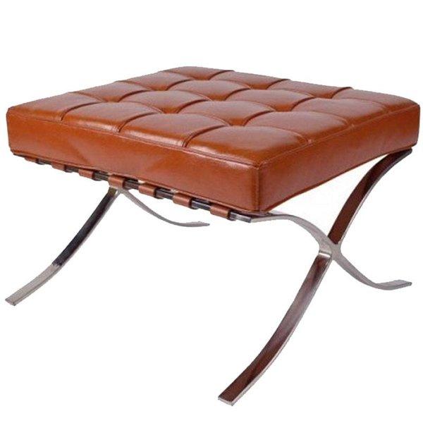 Design stool Barcelona cognac