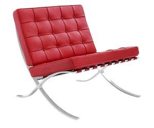 Barcelona chair rood premium replica bij hetlandhuys.nl het