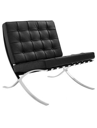 Het Landhuys Barcelona stoel zwart replica PREMIUM | Incl. Gratis vloerbeschermers t.w.v. € 20,-