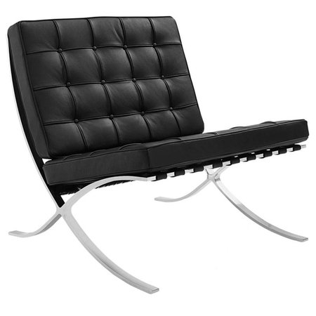 Het Landhuys Barcelona chair dark black