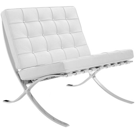 Het Landhuys Barcelona chair dark white