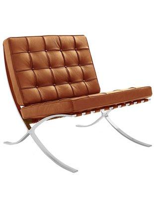 Het Landhuys Barcelona chair replica cognac | Incl. Gratis vloerbeschermers t.w.v. € 20,-