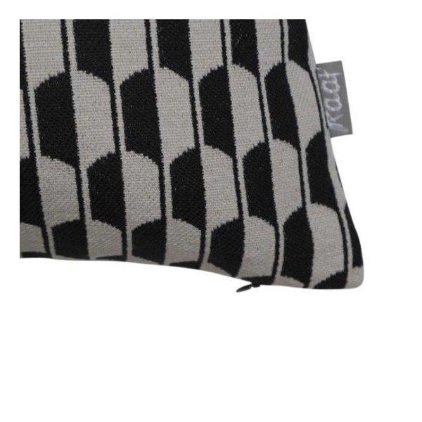Sierkussenhoes Schild zwart 40x60 cm