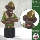 Robert Harrop Chocolate Labrador, Robin Hood