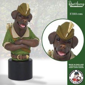 Robert Harrop Chocolate Labrador, Robin Hood (Buste)