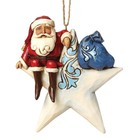 Jim Shore's Heartwood Creek Santa On Star (HO)
