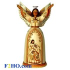 Heartwood Creek Ivory and Gold Navity Angel