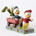 Disney Traditions Huey, Dewey & Louie on wagon