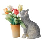 Country Artists Kitten With Tulips