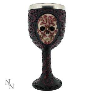 Anne Stokes Oriental Skull Goblet