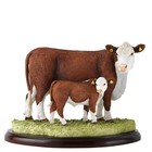 Border Fine Arts Hereford Cow and Calf