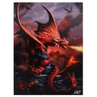 Anne Stokes Fire Dragon  (50 x70cm Canvas)