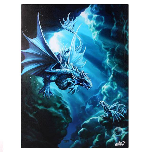 anne stokes water dragon 50x70 canvas friends 2 hold on webshop. Black Bedroom Furniture Sets. Home Design Ideas