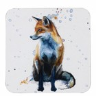 Sarah Stokes Art Fox Coaster (Set 4)