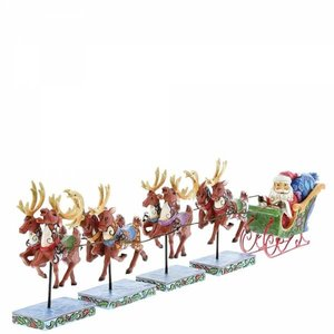 Jim Shore's Heartwood Creek Mini Santa and reindeers set (Dash Away All)