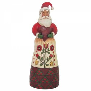 Jim Shore's Heartwood Creek Folklore Santa With Heart
