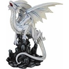 Studio Collection White Mystical Dragon on Rock