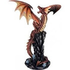 Studio Collection Red Dragon on Rock
