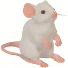 Studio Collection Mouse White Sitting -Standing
