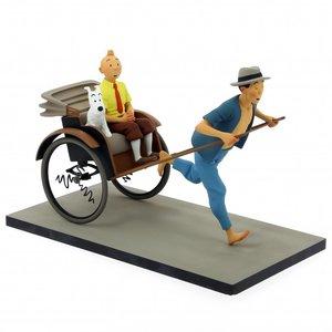 Tintin (Kuifje) Kuifje & Bobby in een Tuk Tuk