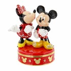 Disney Mickey & Minnie Kiss  Trinket Box - Figurine