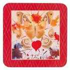 Hallmark Fine Artists Collection (Dali) Coasters  (Butterfly Valentine) Set/4