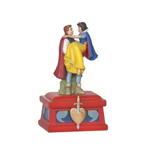 Disney Precious Moments Prince Charming Holding Snow White Musical