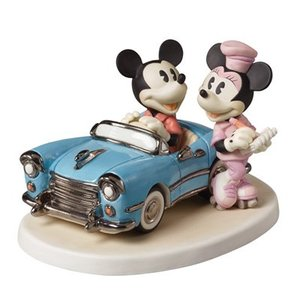Disney Precious Moments Mickey & Minnie (You Make My Heart Race)