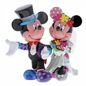 Disney Britto Mickey Mouse Minnie Mouse Wedding Friends 2 Hold