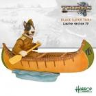 Robert Harrop Native American Indian in Canoe (Tri-Colour Bull Terrier)