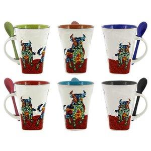 Barcino Design Mug Stier (Bulls Ran)  SET