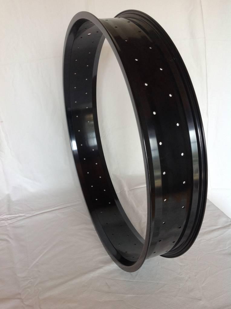 """alloy rim RM100, 26"""", black anodized, 72 holes"""