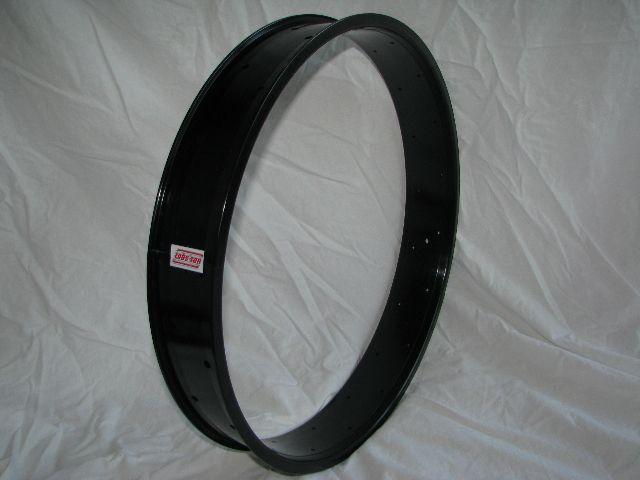 "alloy rim DW80, 24"", 32 h, black anodized"