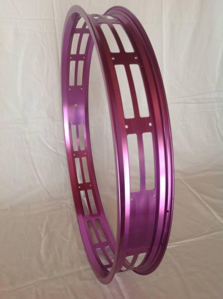 """cut-out rim RM80, 26"""", purple anodized, 32 spoke holes"""