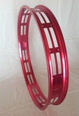"cut-out rim RM80, 26"", red anodized, 32 spoke holes"