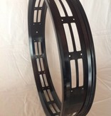 "cut-out rim RM100, 26"", black anodized, 32 spoke holes, square"