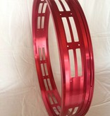 """cut-out rim RM100, 26"""", red anodized, 32 spoke holes, square"""