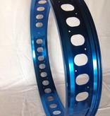 """cut-out rim RM100, 26"""", blue anodized, 32 spoke holes, round cut-outs"""