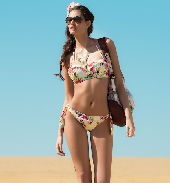 Ache Strapless Bikini Geel