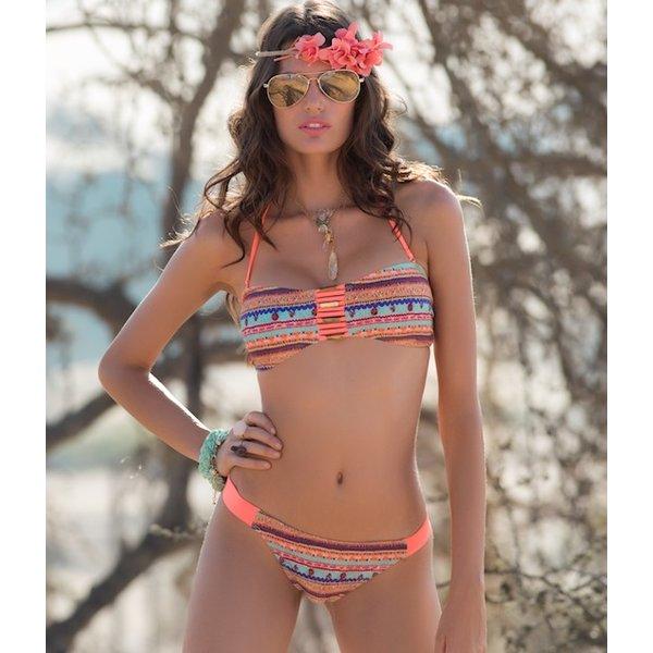Siona Bandeau Bikini Oranje