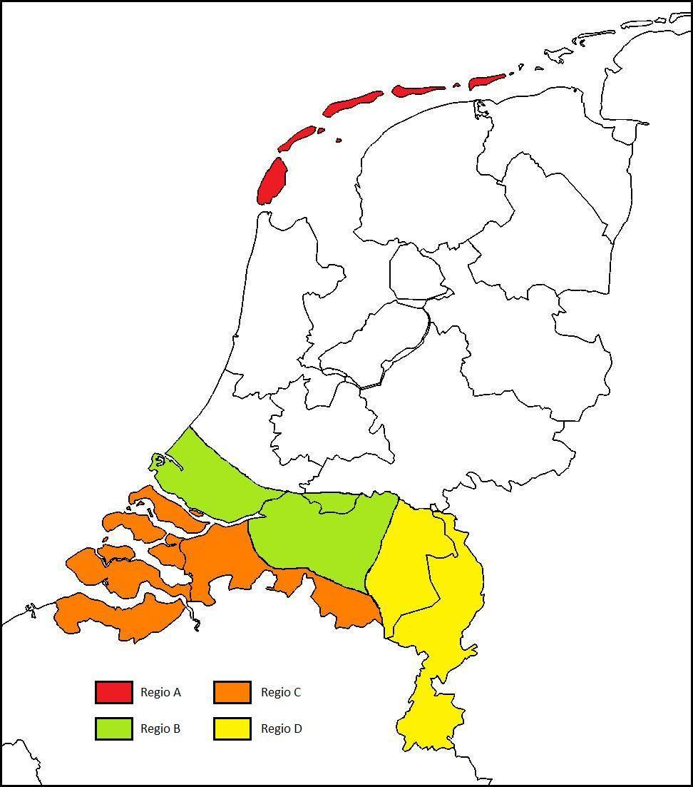 Route info Zuidelijke provincies / data