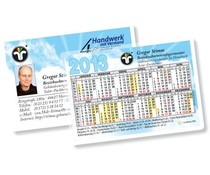Kalender im Spielkartenformat