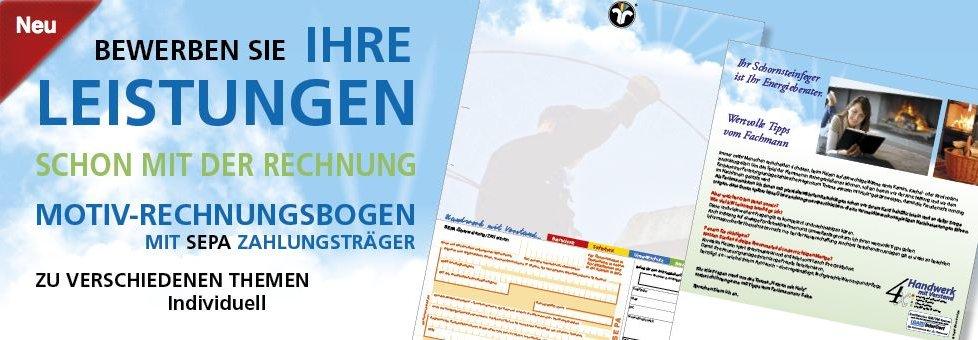 Rechnungsbogen mit SEPA Zahlschein - auch mit Ihrem Logo
