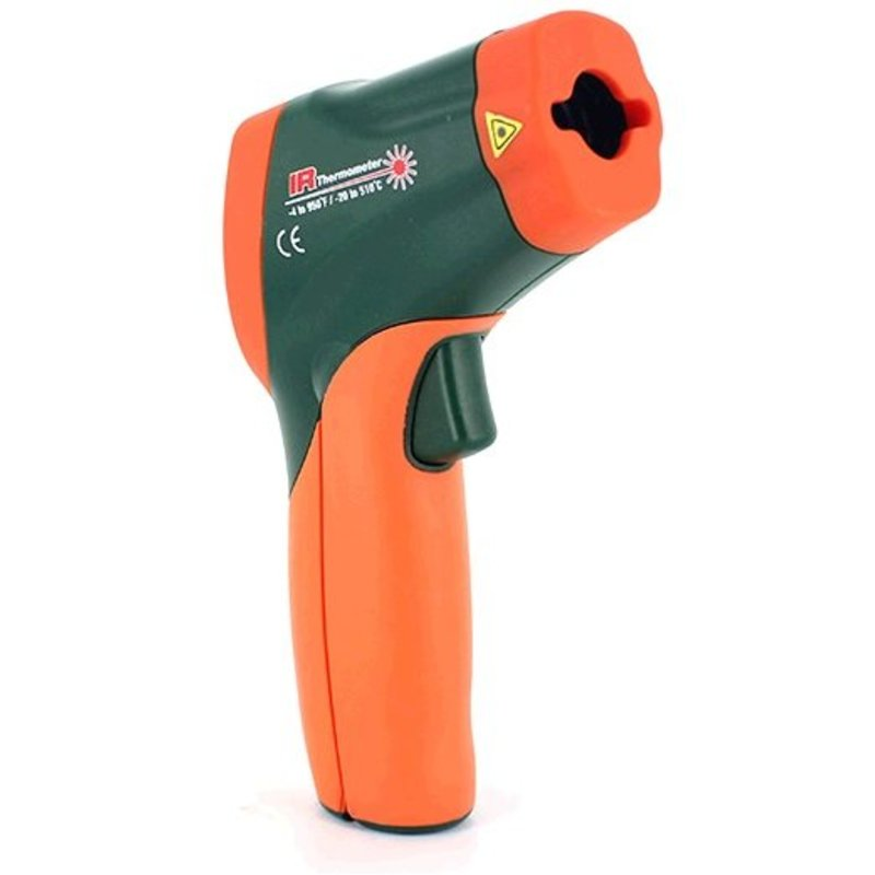 EXTECH 42509 Dual-Laser-IR-Thermometer mit Farbe alarm