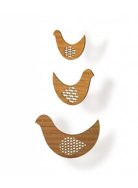 Petit Collage bamboe baby mobiel vogels