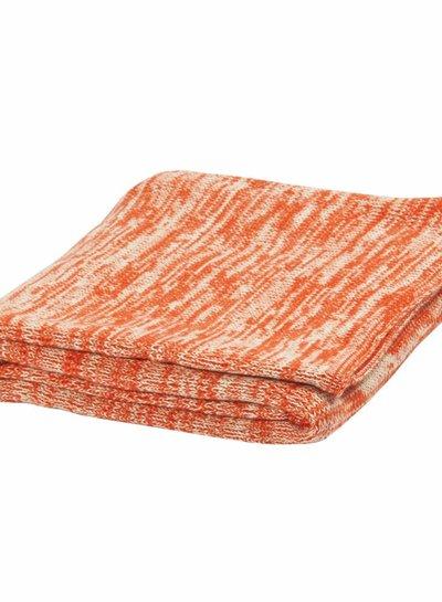 Trixie Gebreid dekentje mélange red & mint van Trixie met prachtige warme mélange knit in rood en munt.
