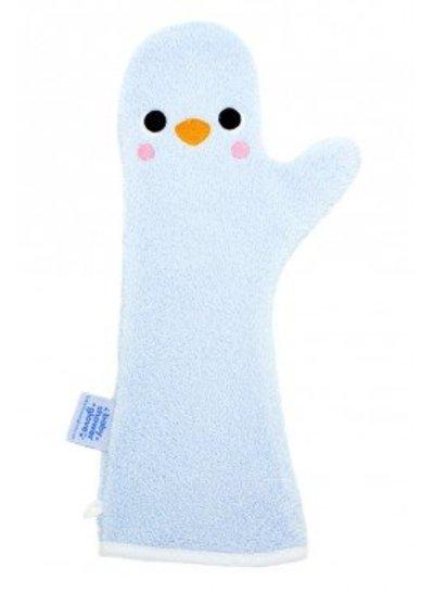 Invented 4 Kids  Baby Shower Glove Pinguin blauw