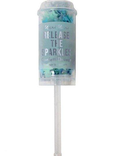 Meri Meri Blauwe confetti popper