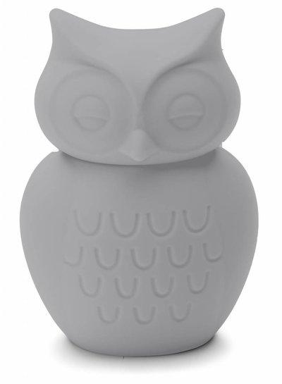 KG Design Spaarpot uil licht grijs