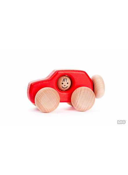 Bajo Houten speelgoed SUV rood